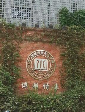 四川国际标榜职业学院校内标识墙高清图片